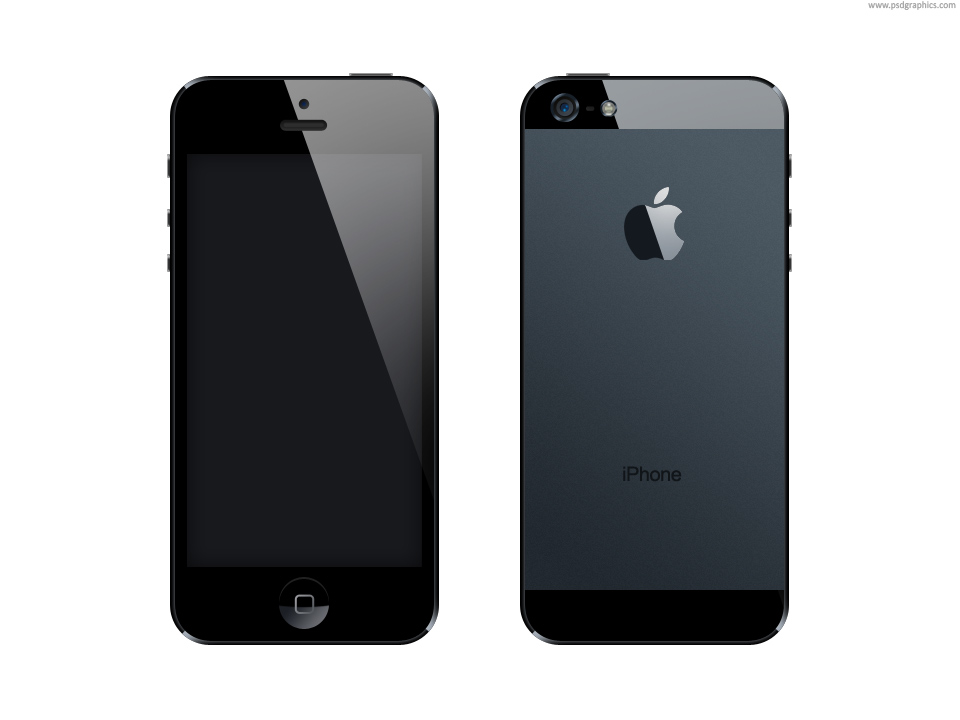 18 IPhone 5 Template PSD Images - iPhone 5 Front and Back ...