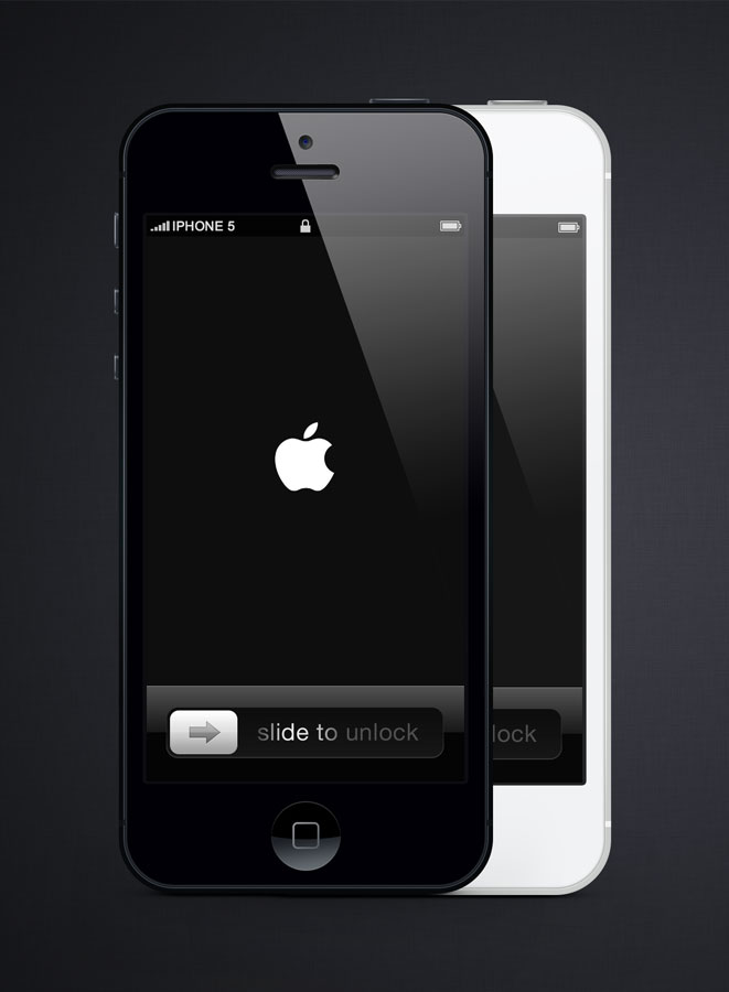 iPhone 5 Photoshop Template