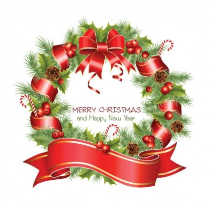 Merry Christmas Happy New Year Clip Art Free