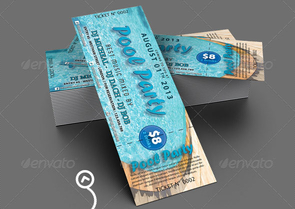 Mock Baseball Tickets