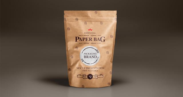 Mock Up Template Free Paper Bag