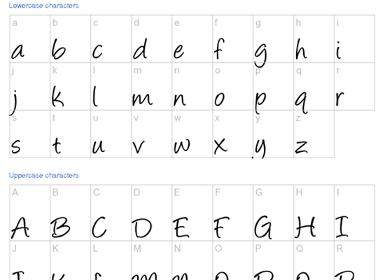 6 Hand Written Fonts Images