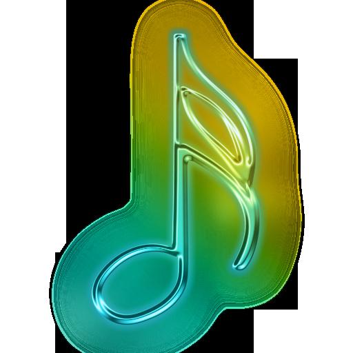 Neon Music Note Symbol