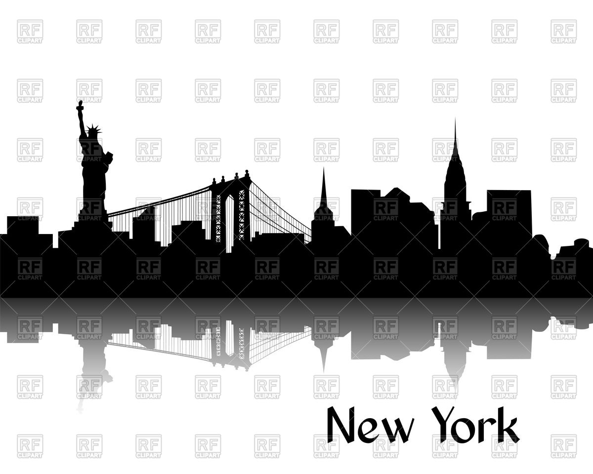 13 New York Silhouette Vector Images