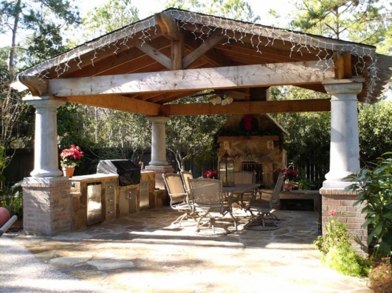 17 Designs For Outdoor Covered Pavilions Images Outdoor Backyard Pavilions Outdoor Pavilion