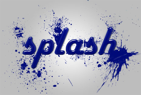 Paint Splash Effect Photoshop