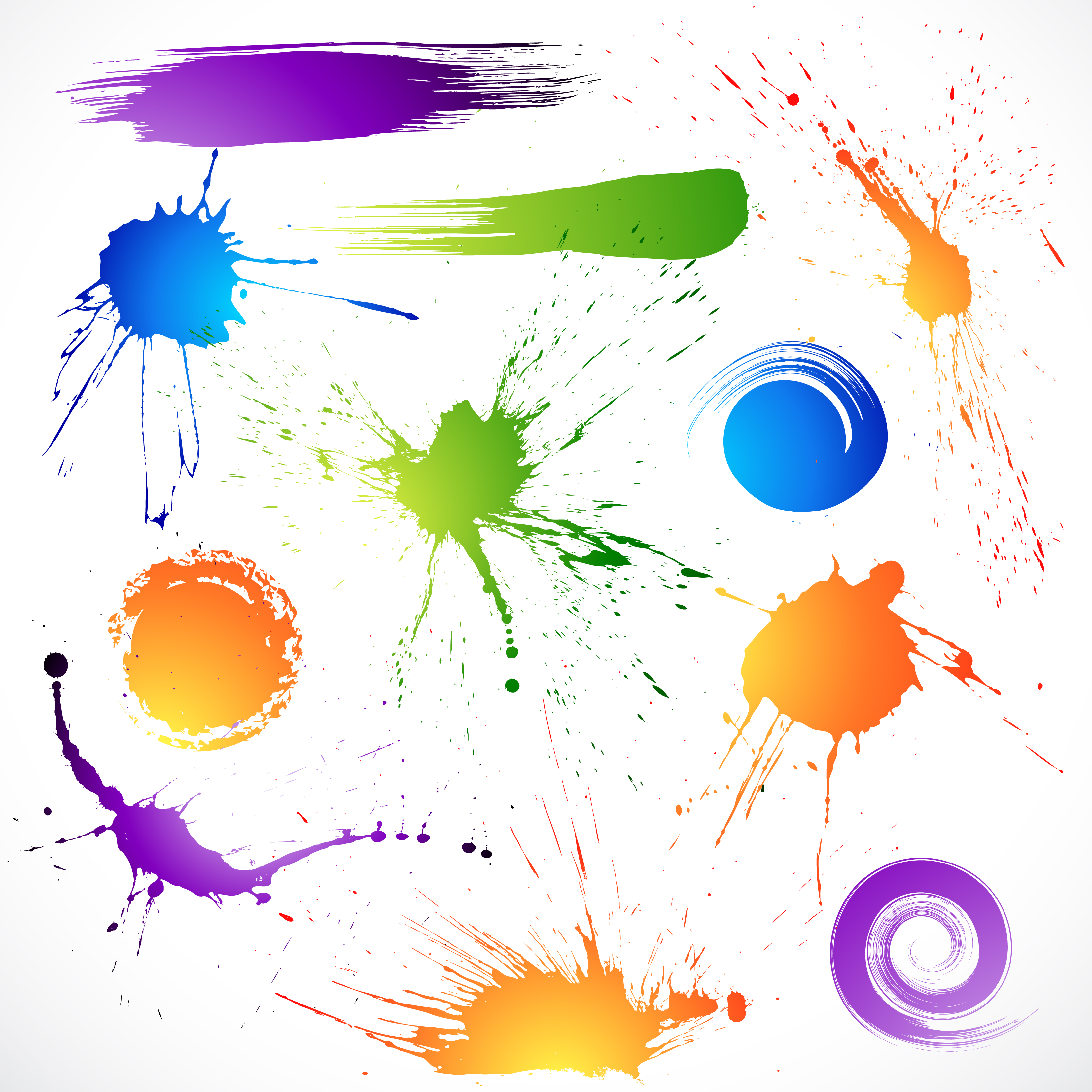 12 Free Vector Effects Images - Light Effects, Paint Splash Vector
