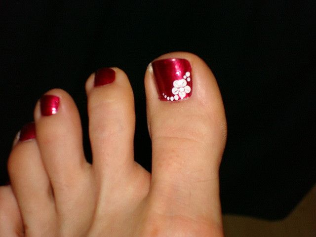 11 Flower Toe Nail Art Designs Images