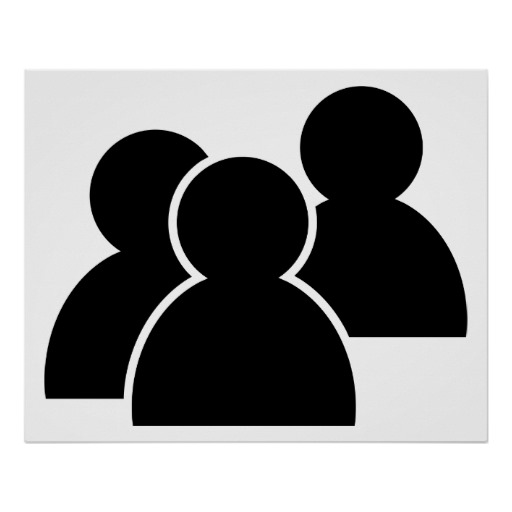 People Icon Black and White