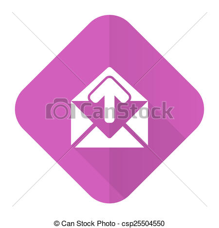 Pink Email Icon Clip Art
