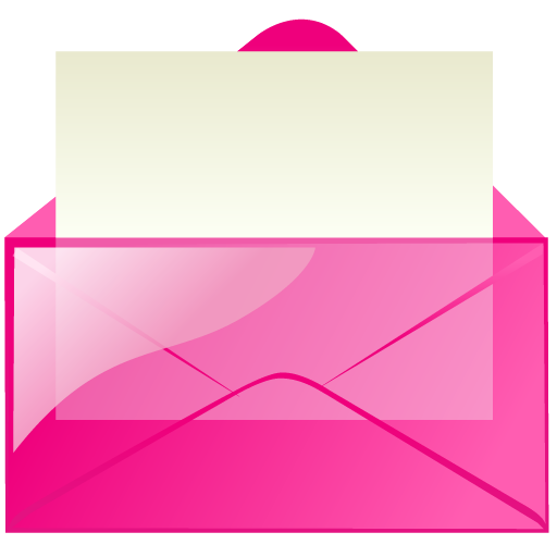 Pink Mail Icon