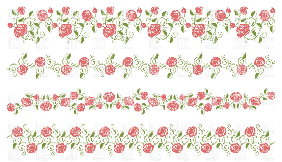 Free Rose Flower Borders, Download Free Clip Art, Free Clip Art on Clipart  Library