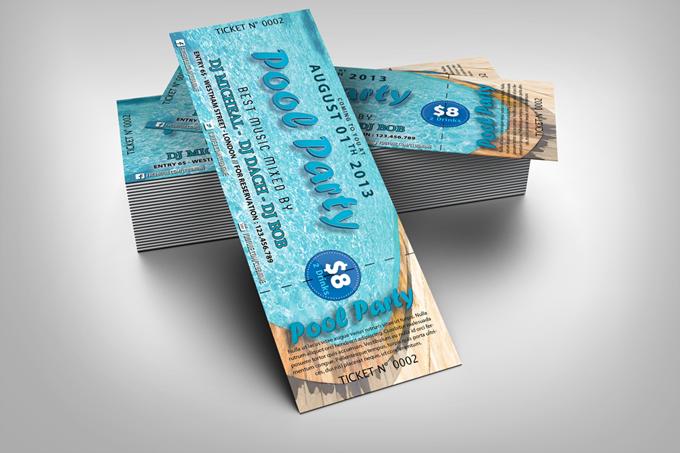 PSD Event Ticket Template
