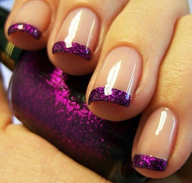 16 Purple Nail Tip Designs Images