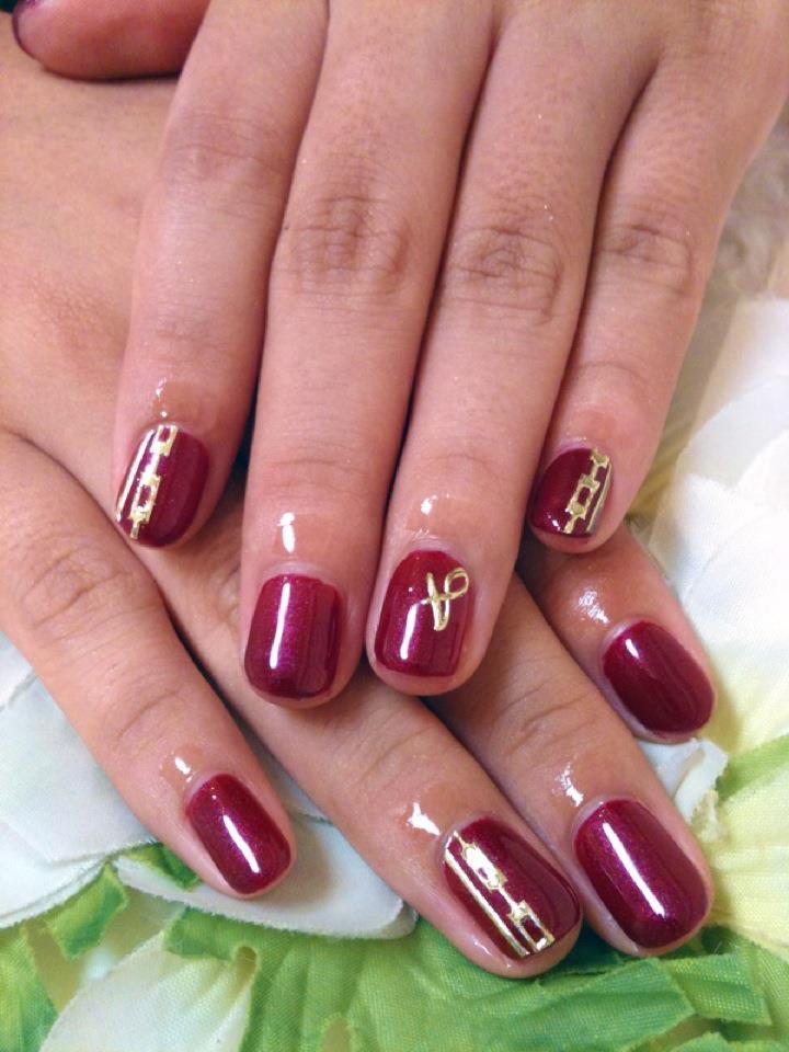 Red Gel Nail Designs