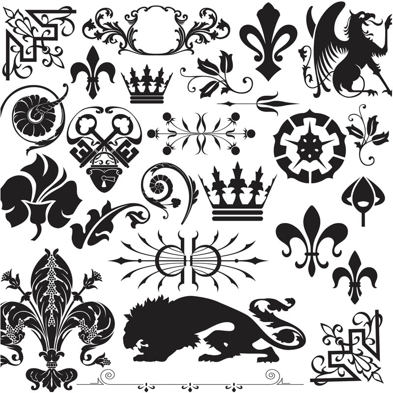 10 Decorative Ornaments Vector Crest Images