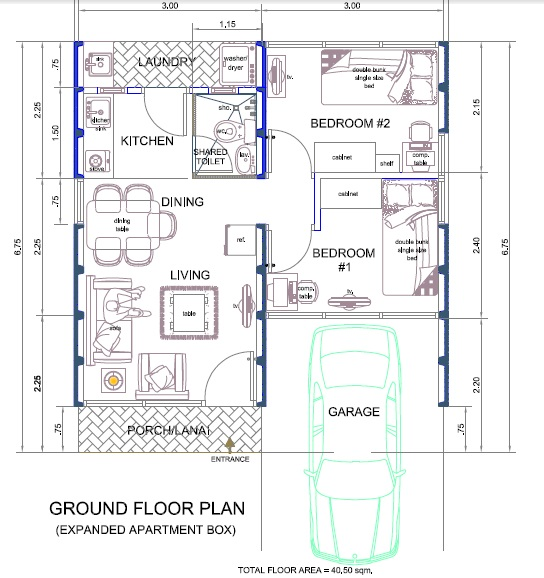 6 small house design plan philippines images small house for Floor plan bungalow house philippines