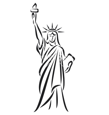 18 statue of liberty vector images statue of liberty for Statue of liberty drawing template