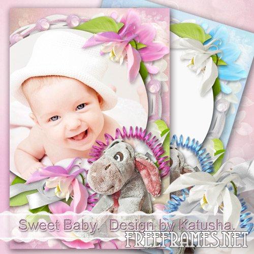 Sweet Baby Girl Pink Frame