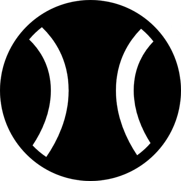Tennis Ball Icon Free Vector Image