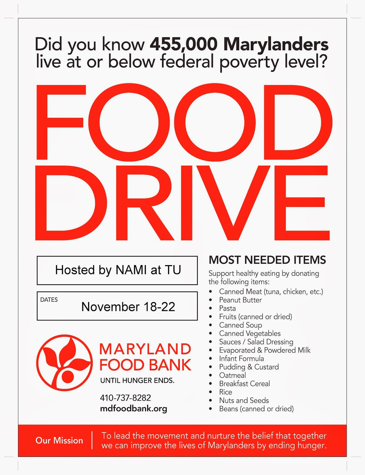 can food drive experience Food drives can raise 700 pounds per distribution location — roughly 583 meals unlike walking into a grocery store or restaurant and paying retail prices for food, feeding america works.