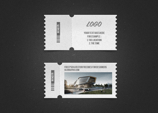 9 event ticket template psd images
