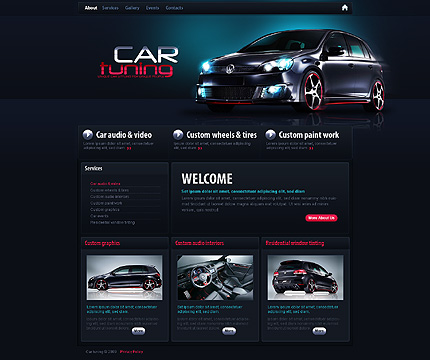 Tuning Car Website Template