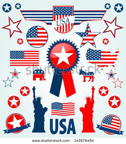 USA Flag Icon Clip Art