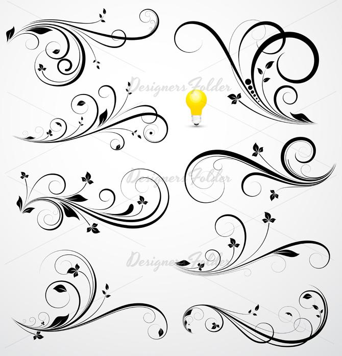 11 Vector Swirl Photoshop Brush Images