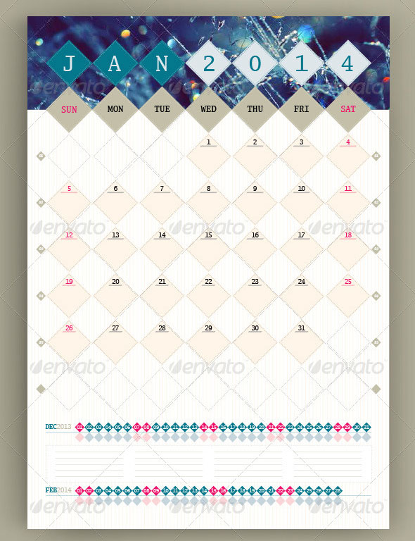 Wall Calendar Template PSD