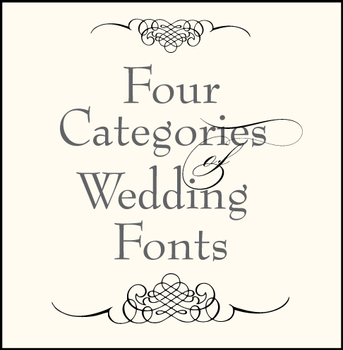 Wedding Font Combinations