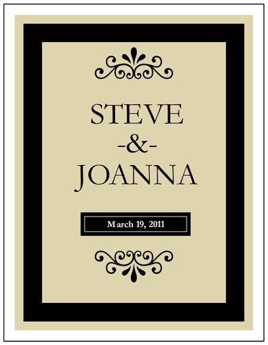 Wine Bottle Label Templates