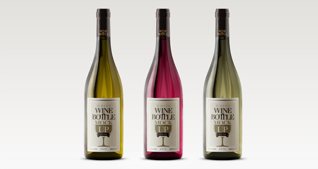 15 Wine Bottle PSD Images