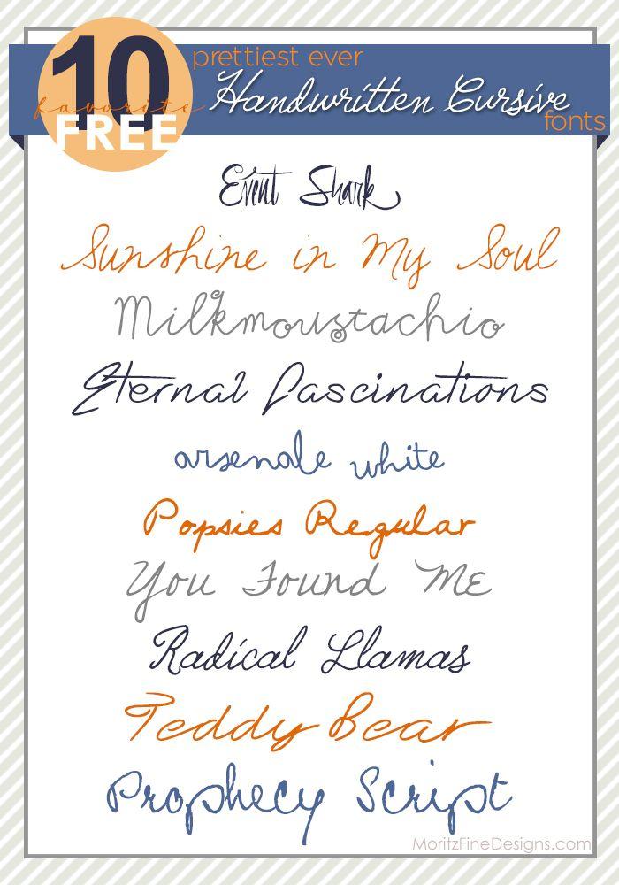 & Handwritten Cursive Fonts