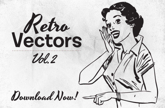 1950s Retro Vector Shapes Free