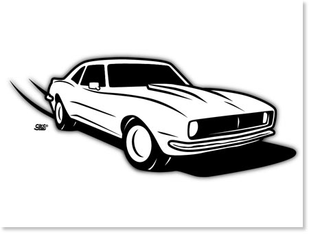 1968 Camaro Cartoon Drawings