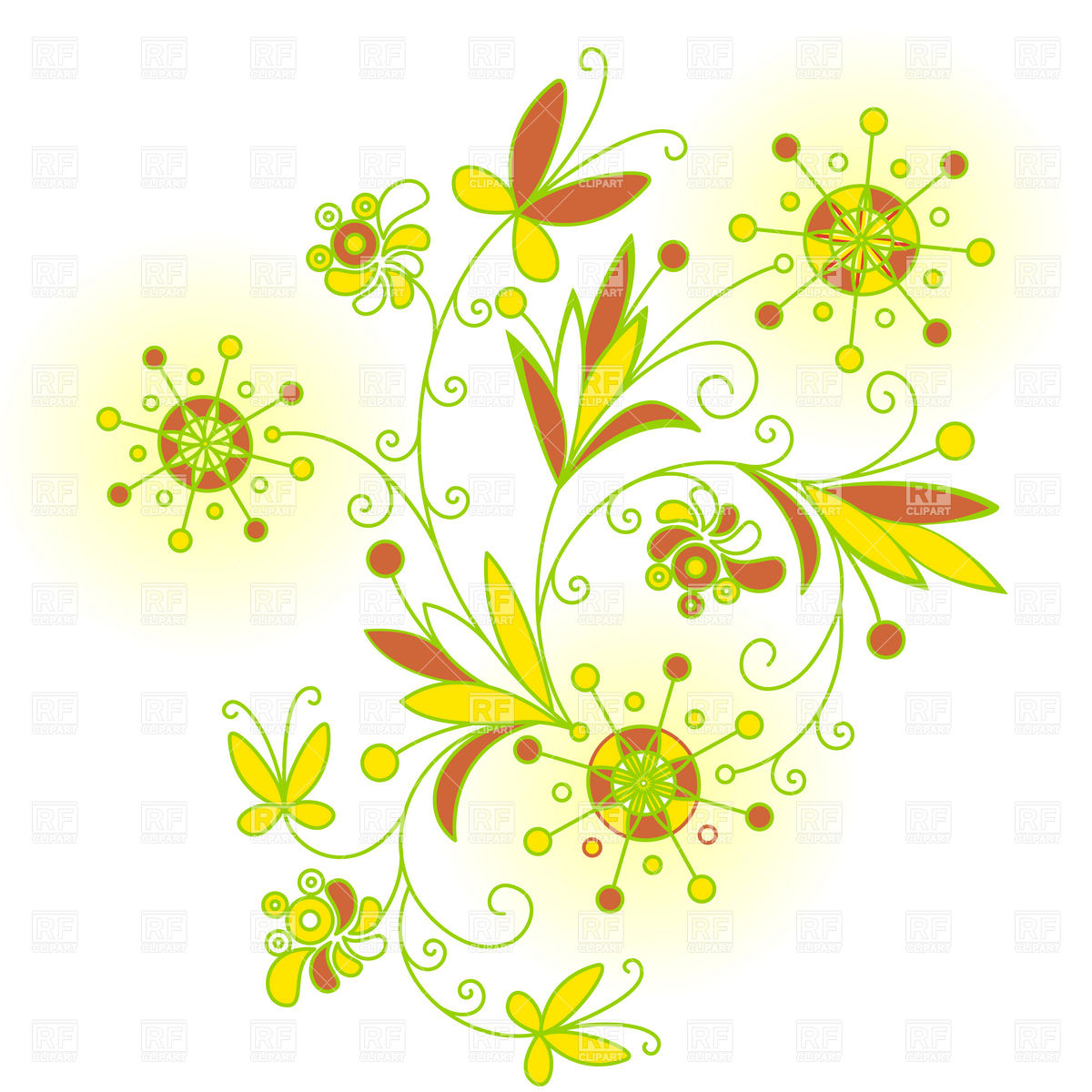 Abstract Flower Floral Design