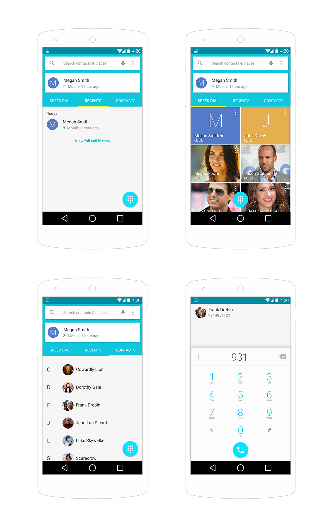13 Android L PSD UI Images