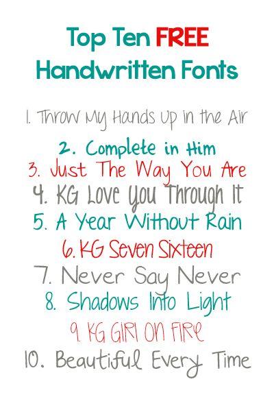 Best Free Handwritten Fonts