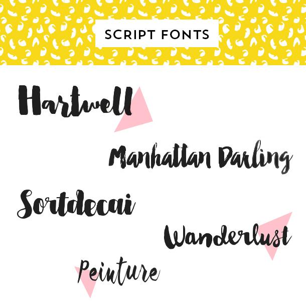 Best Handwritten Script Fonts
