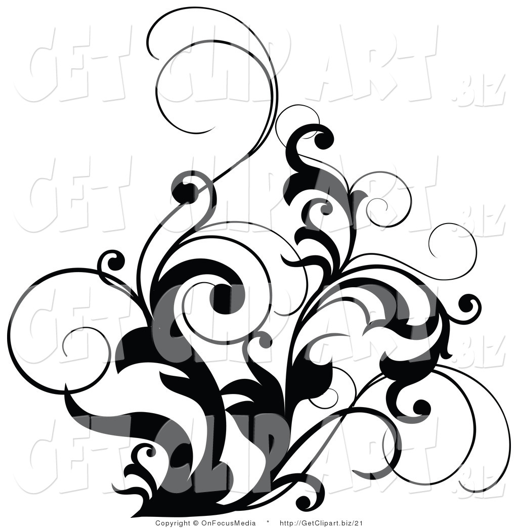 Black and White Designs Clip Art Free