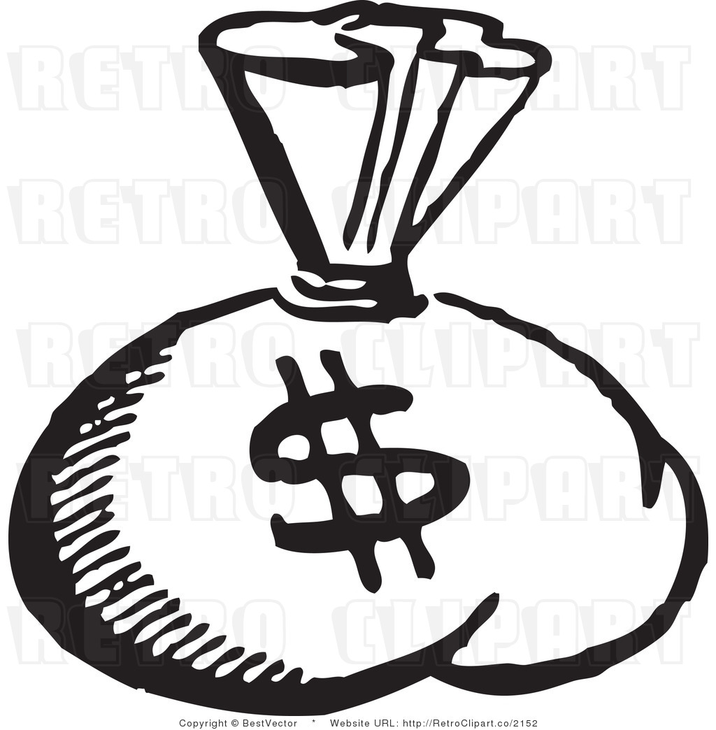 15 Money Clip Art Black And White Vector Images