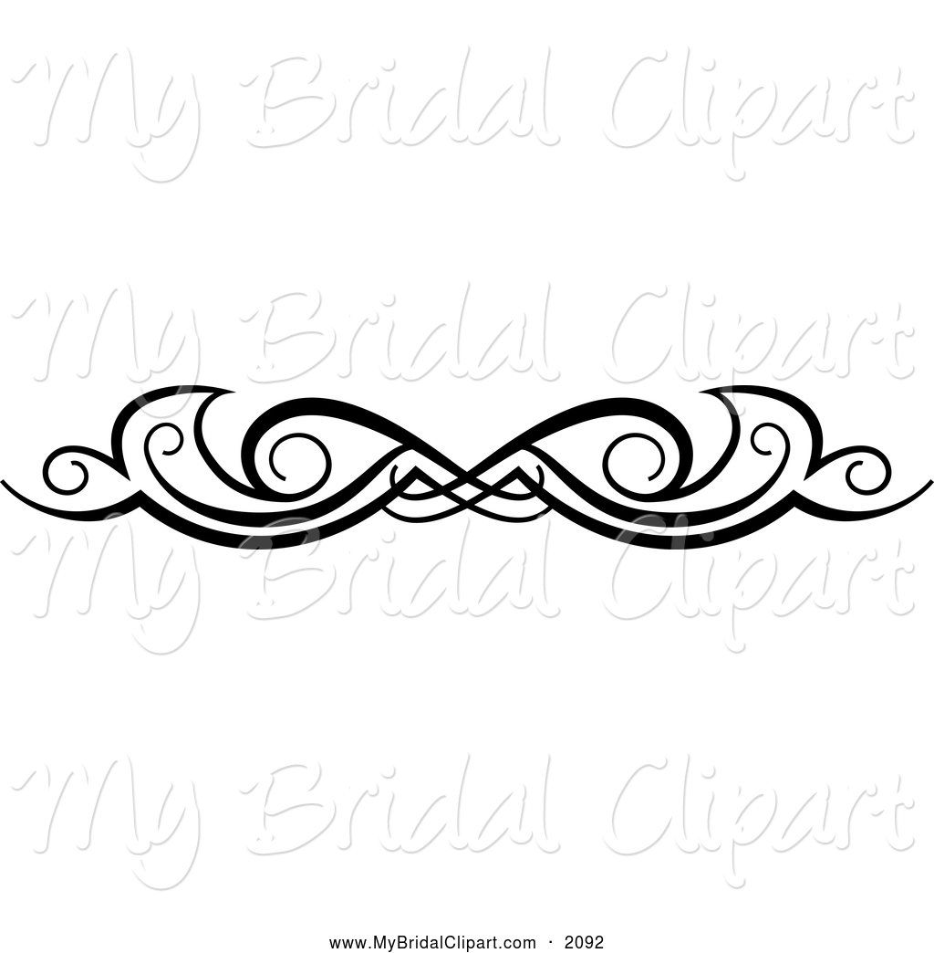Black and White Swirl Design