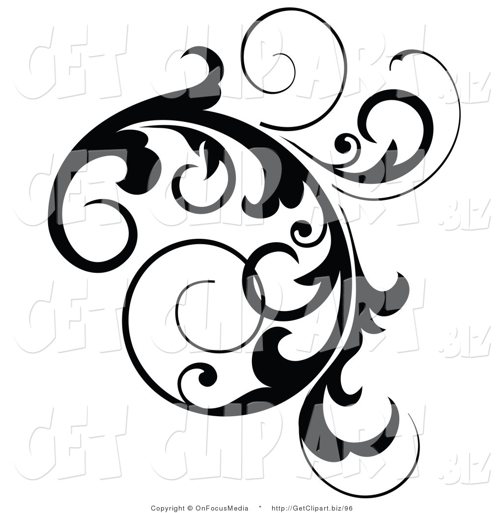 Black and White Vine Clip Art