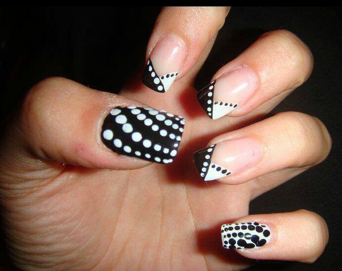 14 Black And White Nail Designs Pinterest Images