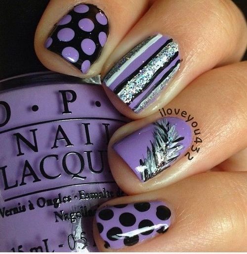 20 purple and silver cute nail designs images purple nail black purple and silver nail designs prinsesfo Gallery