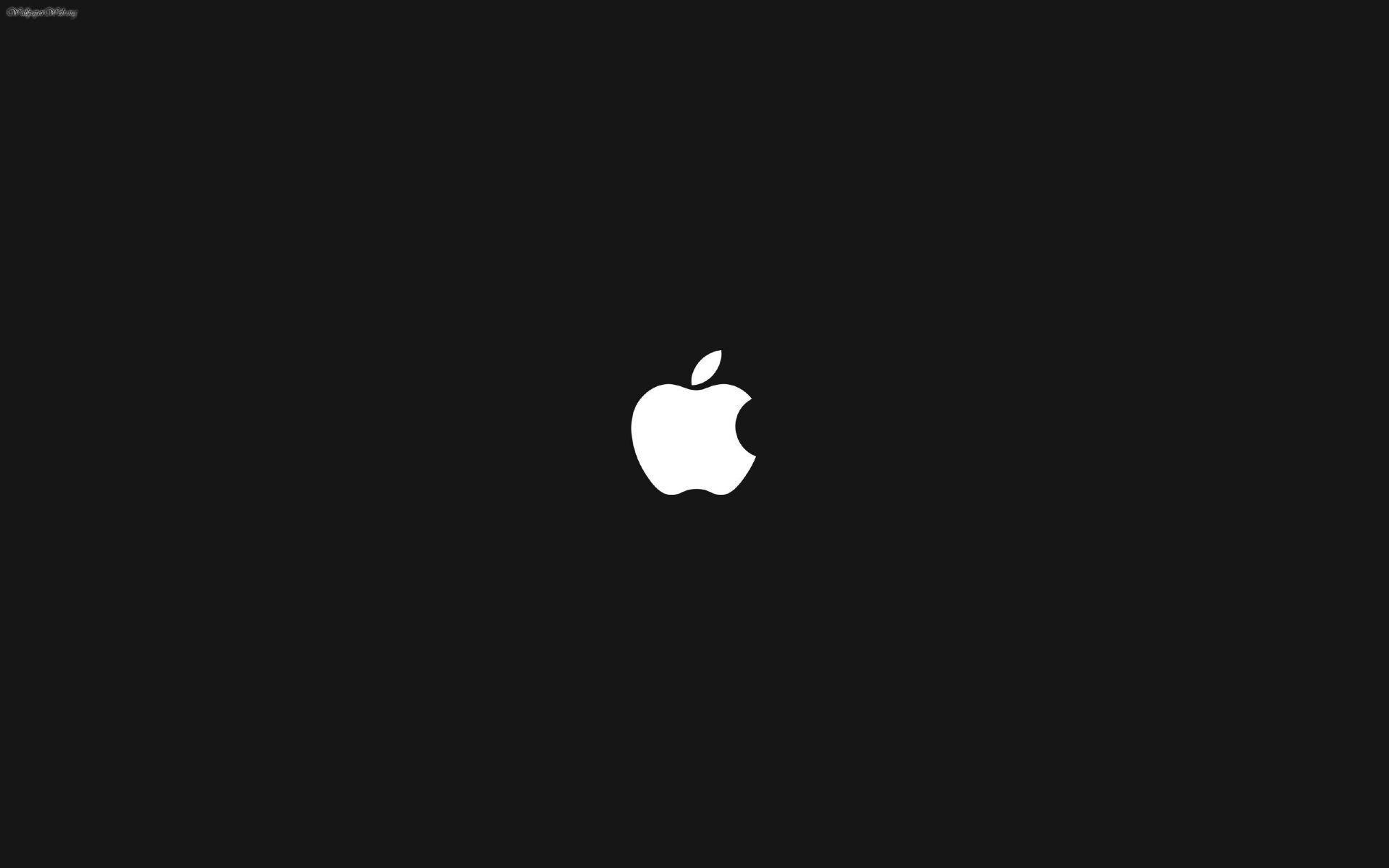 Black White Apple Logo Wallpaper