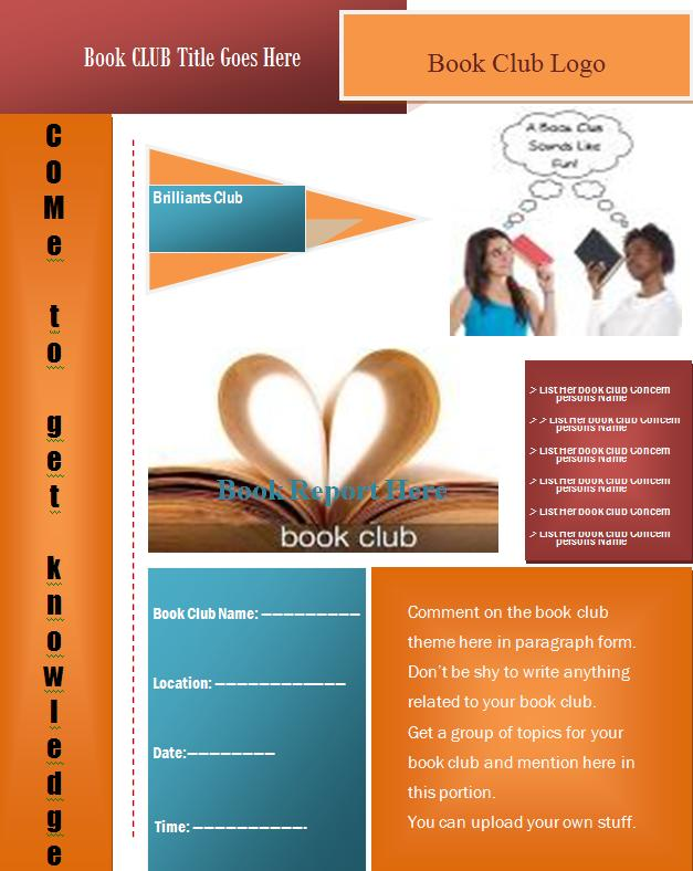 Book Club Flyer Template Free