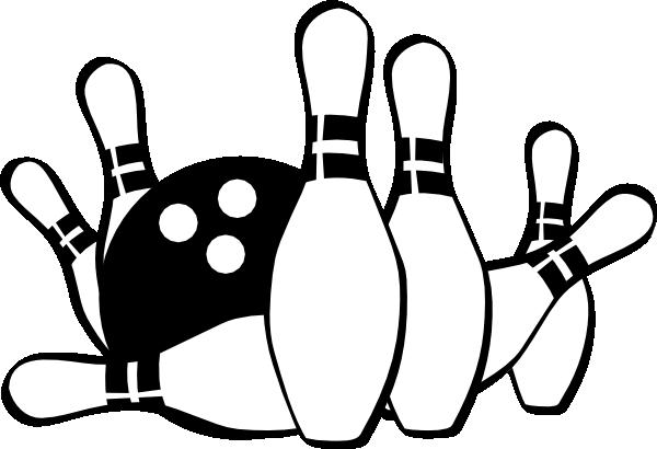 Bowling Strike Clip Art Black and White