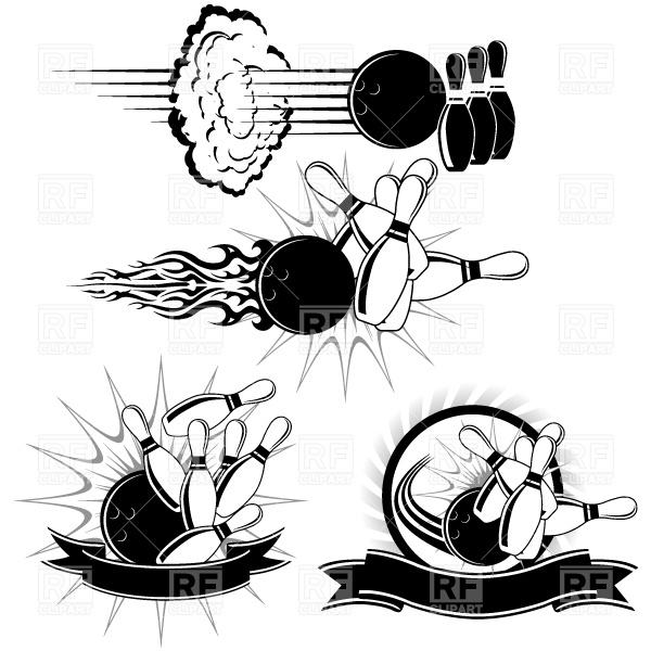 Bowling Strike Clip Art